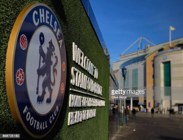 A general view outside the stadium prior tothe Premier League match between Chelsea and Brighton and Hove Albion at Stamford Bridge on December 26...