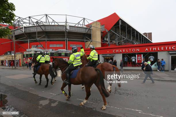 General view outside the Valley prior to the Sky Bet League One match between Charlton Athletic and Blackburn Rovers at The Valley on April 28 2018...