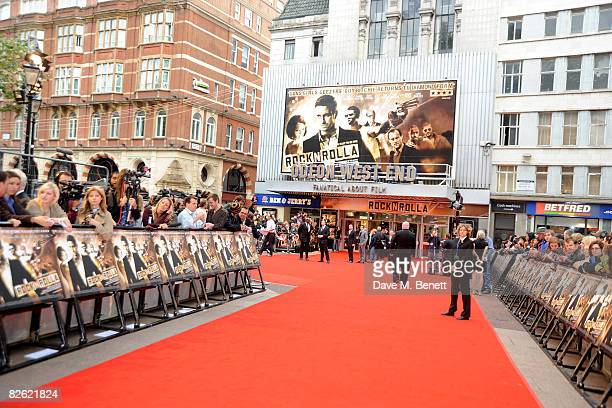 A general view outside the world film premiere of 'RocknRolla' at Odeon West End on September 1 2008 in London England