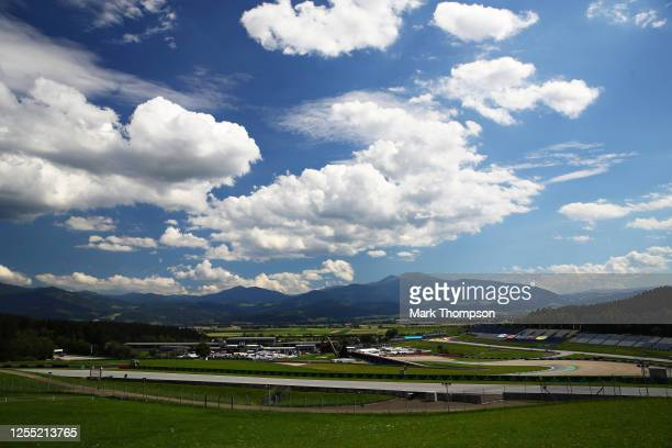 General view over the circuit during previews for the F1 Grand Prix of Styria at Red Bull Ring on July 09, 2020 in Spielberg, Austria.