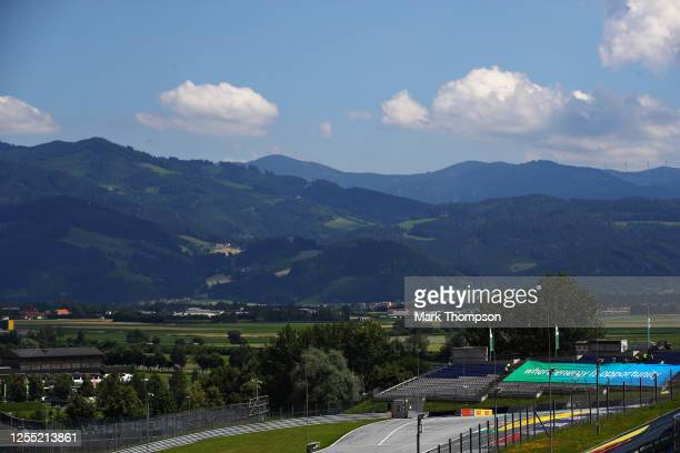 A general view over the circuit during previews for the F1 Grand Prix of Styria at Red Bull Ring on July 09 2020 in Spielberg Austria