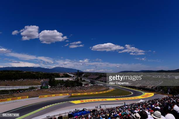 A general view over the circuit during qualifying for the Spanish Formula One Grand Prix at Circuit de Catalunya on May 13 2017 in Montmelo Spain