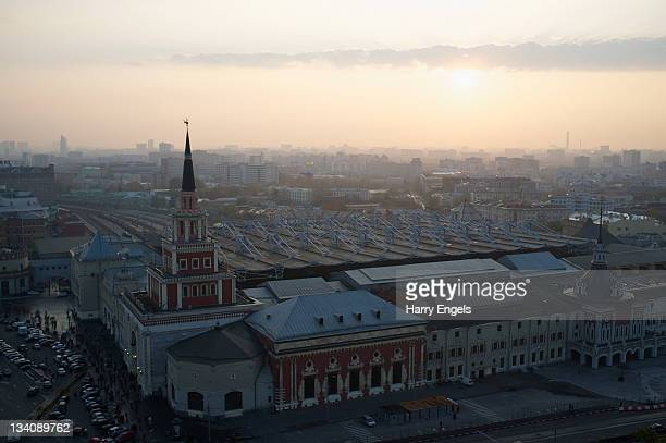 A general view over the city as the sun rises on October 8 2011 in Moscow Russia Moscow is one of thirteen cities proposed as a host city as Russia...