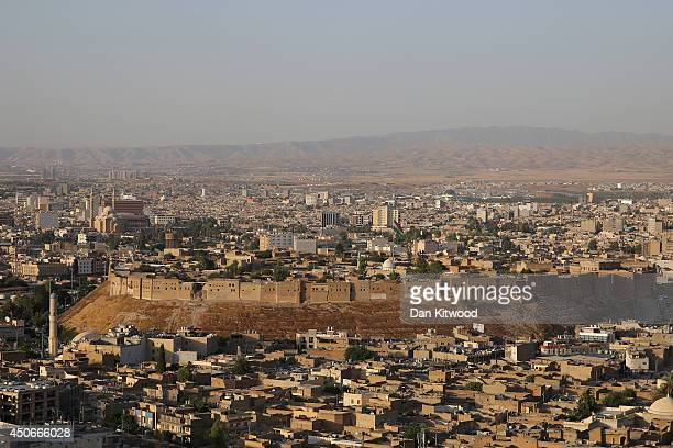 General view over the city of Erbil and the ancient Citadel on June 15, 2014 in Erbil, Iraq. The Citadel is thought to be the oldest continuously...