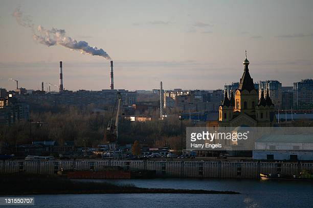 General view over the city on November 5, 2011 in Nizhny Novgorod, Russia. Nizhny Novgorod is one of thirteen cities proposed as a host city for the...