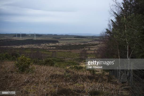 A general view over the Doddinton North site ahead of the beginning of tree planting on March 21 2018 in Doddington England The Doddington North...