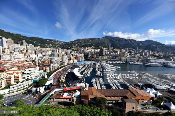General view over the harbour during previews ahead of the Monaco Formula One Grand Prix at Circuit de Monaco on May 23, 2018 in Monte-Carlo, Monaco.