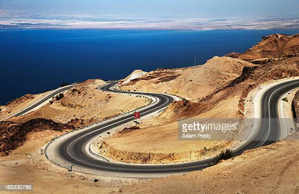A general view over the Red Sea looking towards Jericho Israel on March 26 2013 outside Amman Jordan