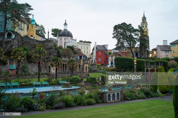 General view over the tourist town of Portmeirion on June 26, 2019 in Portmeirion, North Wales. The village was designed and built by Sir Clough...