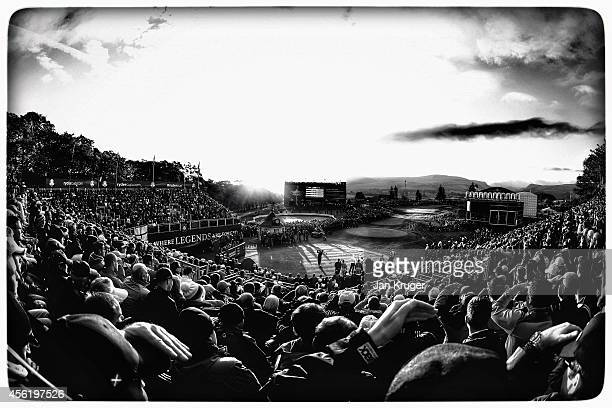 General view overlooking the 1st tee during the Morning Fourballs of the 2014 Ryder Cup on the PGA Centenary course at the Gleneagles Hotel on...
