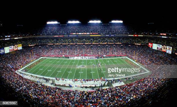 A general view picture of FedEx Field during the game between the Washington Redskins and the Philadelphia Eagles on December 27 2003 in Washington DC