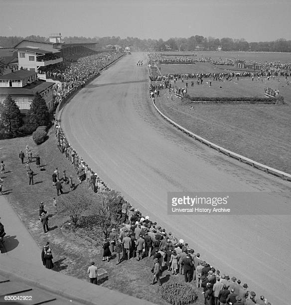 General View Pimlico Race Track near Baltimore Maryland USA Arthur S Siegel for Office of War Information May 1943