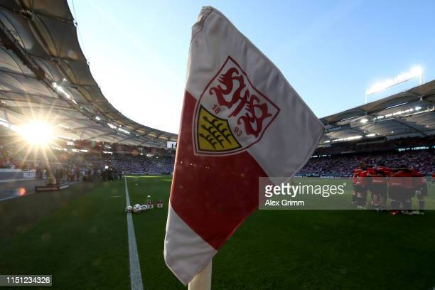 General view prior the Bundesliga playoff first leg match between VfB Stuttgart and 1. FC Union Berlin at Mercedes-Benz Arena on May 23, 2019 in...