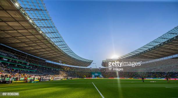 A general view prior the DFB Cup final match between Eintracht Frankfurt and Borussia Dortmund at Olympiastadion on May 27 2017 in Berlin Germany