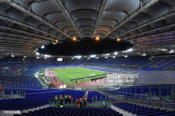 A general view prior the Group G match of the UEFA Champions League between AS Roma and Real Madrid at Stadio Olimpico on November 27 2018 in Rome...
