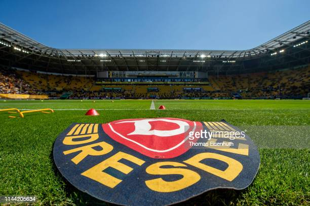 General view prior the Second Bundesliga match between SG Dynamo Dresden and 1. FC Koeln at Rudolf-Harbig-Stadion on April 21, 2019 in Dresden,...
