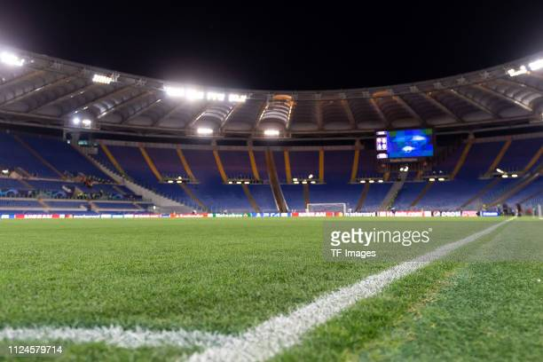 General view prior the UEFA Champions League Round of 16 First Leg match between AS Roma and FC Porto at Stadio Olimpico on February 12, 2019 in Rome.