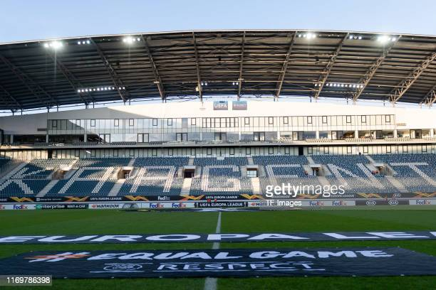 General view prior the UEFA Europa League group I match between KAA Gent and AS Saint-Etienne at Ghelamco Arena on September 19, 2019 in Gent,...