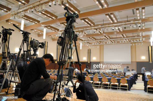 A general view prior to a press conference of an investigative committee looking into the Nihon University American football team on July 30 2018 in...