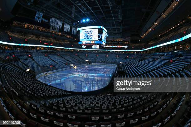 General view prior to action between the Boston Bruins and the Toronto Maple Leafs in Game Six of the Eastern Conference First Round in the 2018...