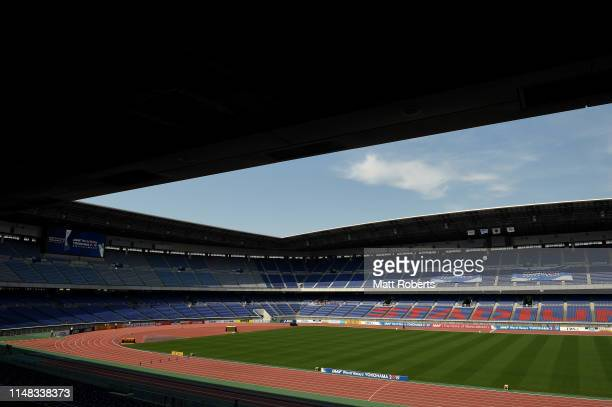 A general view prior to day one of the IAAF World Relays at Nissan Stadium on May 11 2019 in Yokohama Kanagawa Japan