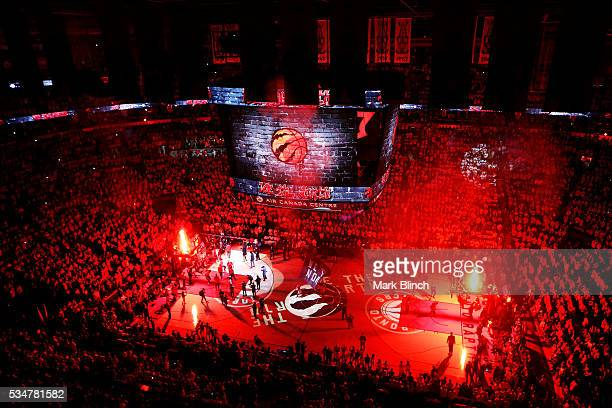 A general view prior to game six of the Eastern Conference Finals between the Cleveland Cavaliers and the Toronto Raptors during the 2016 NBA...