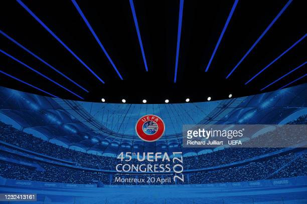 General view prior to the 45th Ordinary UEFA Congress at 2m2c Montreux Music & Convention Centre on April 20 in Montreux, Switzerland.