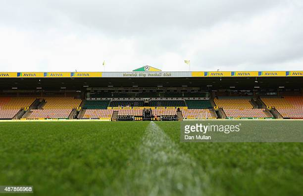 A general view prior to the Barclays Premier League match between Norwich City and AFC Bournemouth at Carrow Road on September 12 2015 in Norwich...