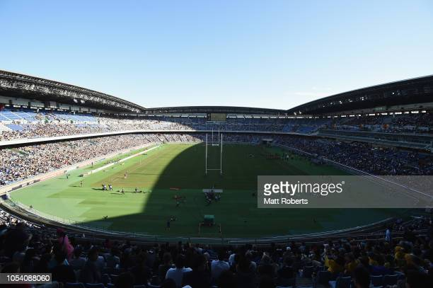 A general view prior to the Bledisloe Cup test match between New Zealand All Blacks and Australian Wallabies at Nissan Stadium on October 27 2018 in...
