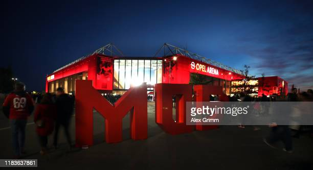 A general view prior to the Bundesliga match between 1 FSV Mainz 05 and 1 FC Koeln at Opel Arena on October 25 2019 in Mainz Germany