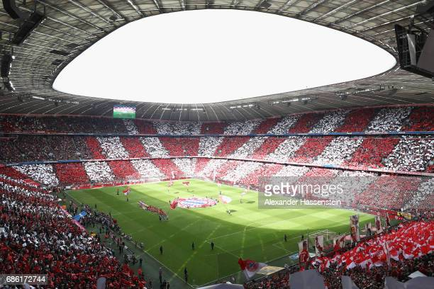 General view prior to the Bundesliga match between Bayern Muenchen and SC Freiburg at Allianz Arena on May 20 2017 in Munich Germany