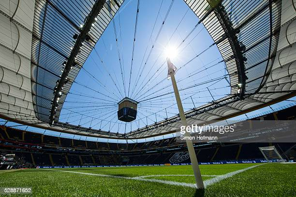A general view prior to the Bundesliga match between Eintracht Frankfurt and Borussia Dortmund at CommerzbankArena on May 07 2016 in Frankfurt am...