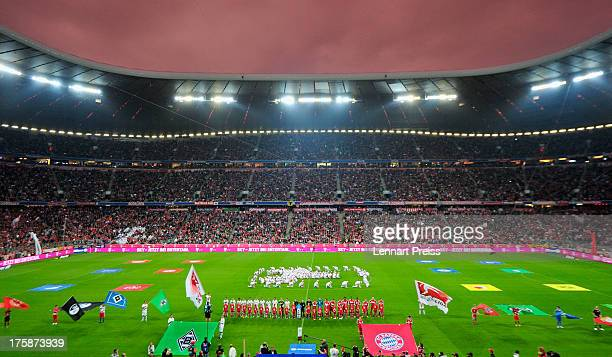 A general view prior to the Bundesliga match between FC Bayern Muenchen and Borussia Moenchengladbach at Allianz Arena on August 9 2013 in Munich...