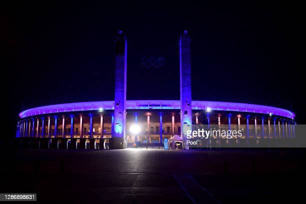 General view prior to the Bundesliga match between Hertha BSC and Borussia Dortmund at Olympiastadion on November 21, 2020 in Berlin, Germany....