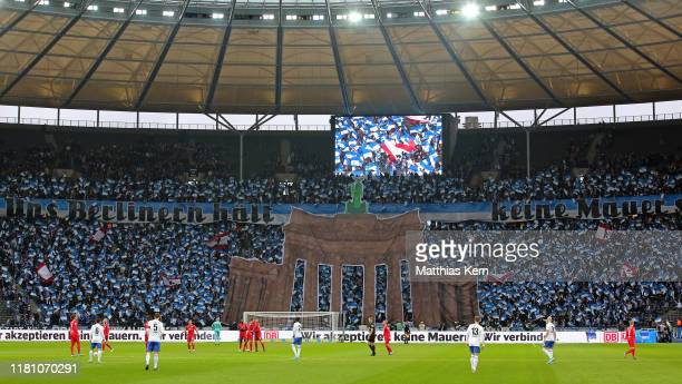General view prior to the Bundesliga match between Hertha BSC and RB Leipzig at Olympiastadion on November 9, 2019 in Berlin, Germany.