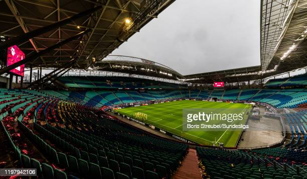 General view prior to the Bundesliga match between RB Leipzig and Borussia Mönchengladbach at Red Bull Arena on February 1, 2020 in Leipzig, Germany.