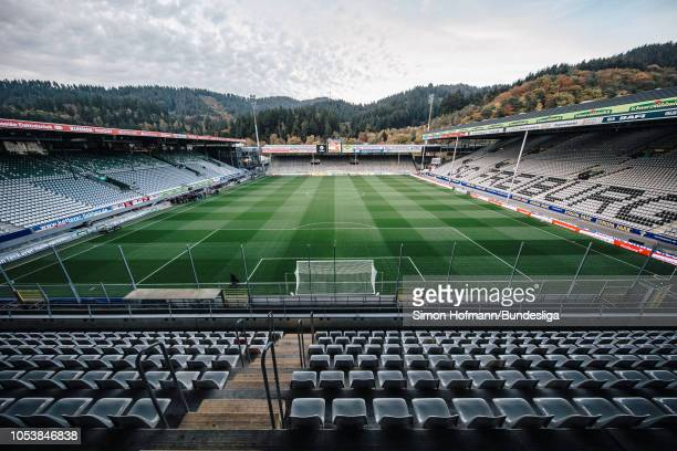 General view prior to the Bundesliga match between Sport-Club Freiburg and Borussia Moenchengladbach at Schwarzwald-Stadion on October 26, 2018 in...