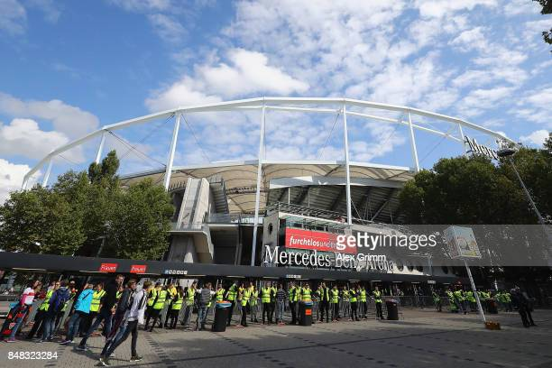 A general view prior to the Bundesliga match between VfB Stuttgart and VfL Wolfsburg at MercedesBenz Arena on September 16 2017 in Stuttgart Germany