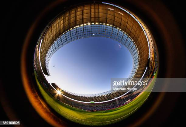 A general view prior to the DFB Cup final match between Eintracht Frankfurt and Borussia Dortmund at Olympiastadion on May 27 2017 in Berlin Germany