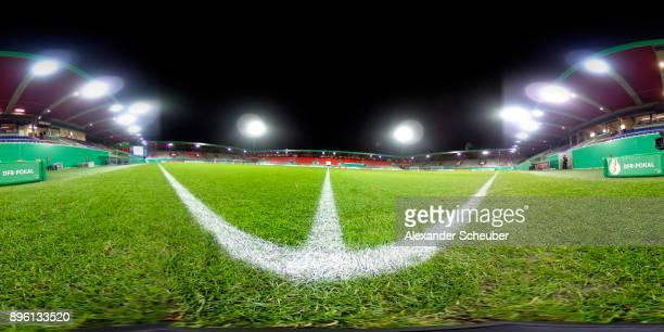 A general view prior to the DFB Cup match between 1 FC Heidenheim and Eintracht Frankfurt at VoithArena on December 20 2017 in Heidenheim Germany