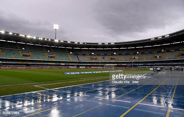 General view prior to the during the Serie A match between Hellas Verona FC and FC Internazionale Milano at Stadio Marc'Antonio Bentegodi on February...