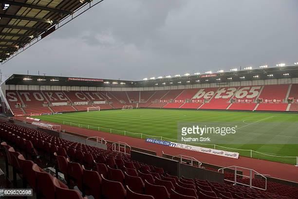 A general view prior to the EFL Cup Third Round match between Stoke City and Hull City at the Britannia Stadium on September 21 2016 in Stoke on...
