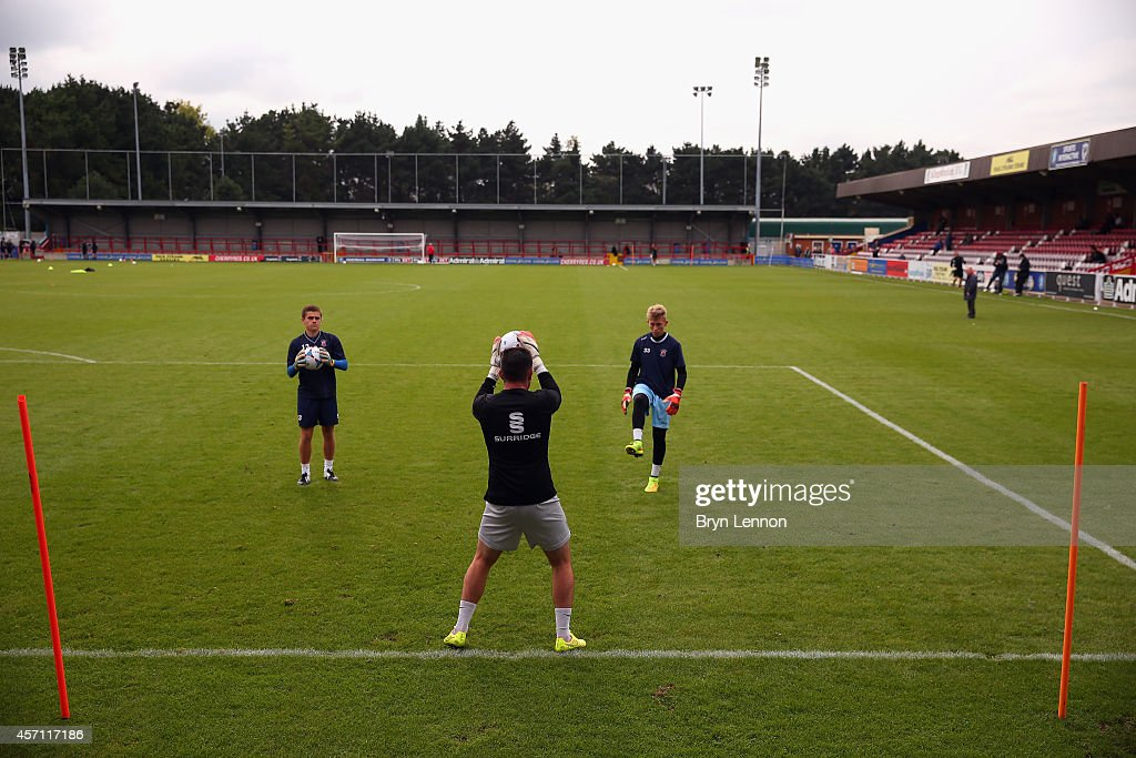 A general view prior to the FA Cup Qualifying Third Round match between Kingstonian and Eastbourne Borough at The Cherry Red Records Stadium on October 12, 2014 in Kingston upon Thames, England.