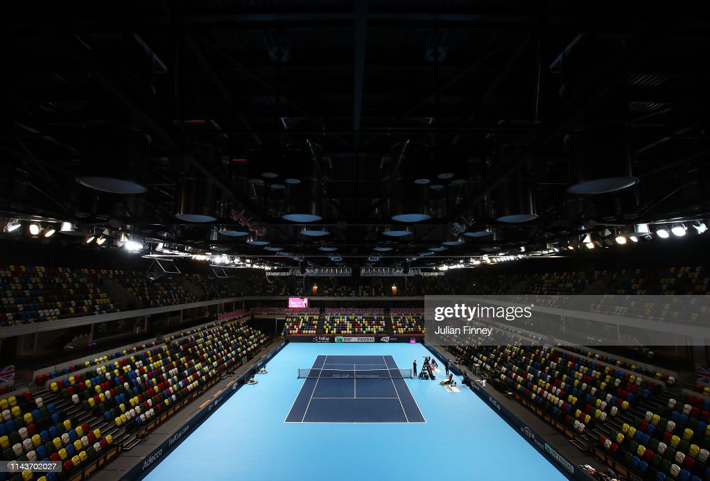 GBR: Great Britain v Kazakhstan - Fed Cup: Preview Day 4