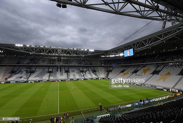General view prior to the FIFA 2018 World Cup Qualifier between Italy and Spain at Juventus Stadium on October 6 2016 in Turin Italy