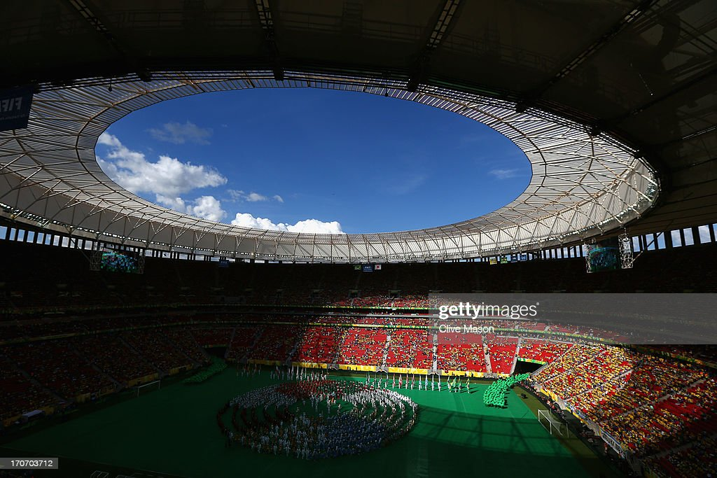 General View prior to the FIFA Confederations Cup Brazil 2013 Group A match between Brazil and Japan at National Stadium on June 15, 2013 in Brasilia, Brazil.