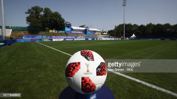A general view prior to the FIFA U20 Women's World Cup France 2018 group C match between Paraguay and Spain at Stade GuyPiriou on August 6 2018 in...