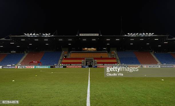 General view prior to the FIFA World Cup 2018 group G Qualifiers football match beetween Liechtenstein and Italy at the Rheinpark Stadion on November...
