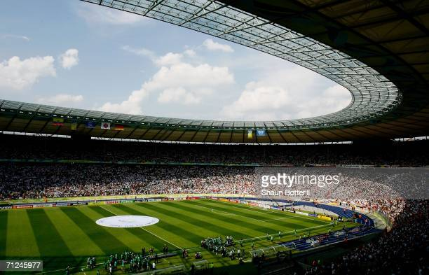 General view prior to the FIFA World Cup Germany 2006 Group A match between Ecuador and Germany played at the Olympic Stadium on June 20 2006 in...