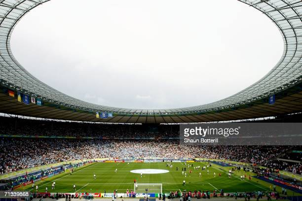 General view prior to the FIFA World Cup Germany 2006 Quarterfinal match between Germany and Argentina played at the Olympic Stadium on June 30 2006...